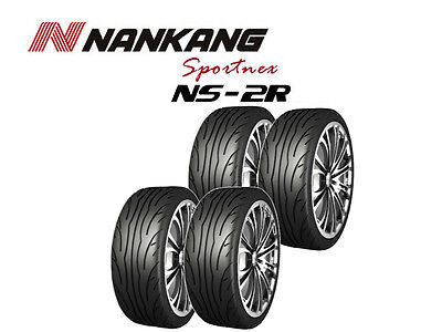 4x Nankang NS-2R Tyres - Track Day/Race/Road - 205/40 R17 84W - (180, STREET)