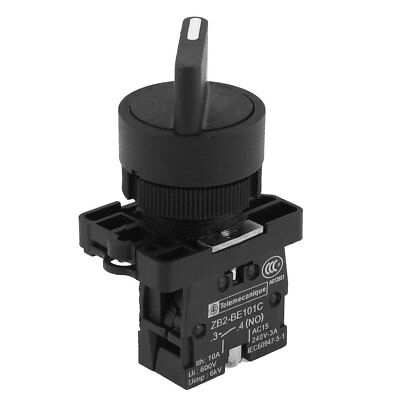 ZB2-BE101C 2 Positions Rotary Selector Switch 600V 10A