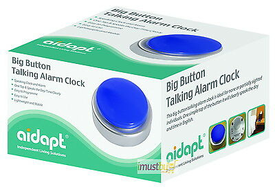 iMustbuy Aidapt Big Button Talking Alarm Clock for Blind and Partially Sighted