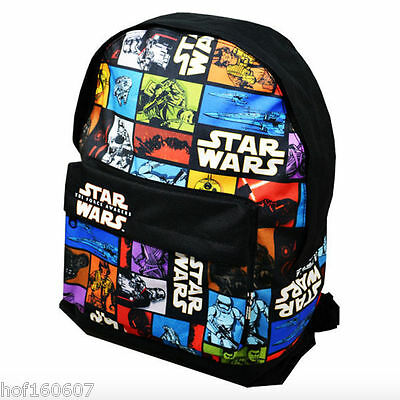 NEW OFFICIAL Star Wars Episode 7 Boys Kids Large Character Backpack School Bag