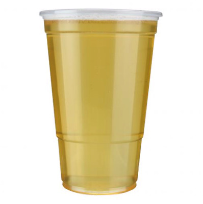 Clear Disposable Plastic Pint Pots/Glasses Good Quality Party BBQ. (CPG005)