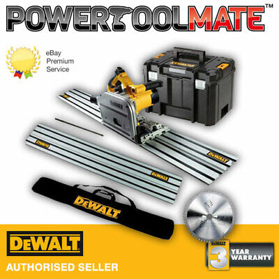 Dewalt DWS520KT 110v Plunge Saw c/w T-Stak Case, Box, Joining Bar & 1.5m Rails