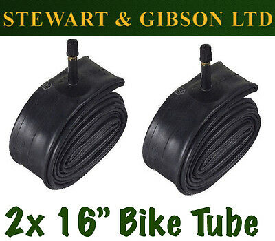 2 x IGNITE 16 INCH INNER BICYCLE TUBE TUBES 1.75 - 2.125 MOUNTAIN BIKE SCHRADER
