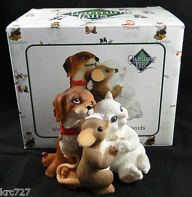 Charming Tails Figurine We've All Become Such Good Friends Signed