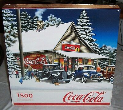 "New 2010 Coca Cola ""joyful Time"" Springbok 1500 Pieces Puzzle Nib"