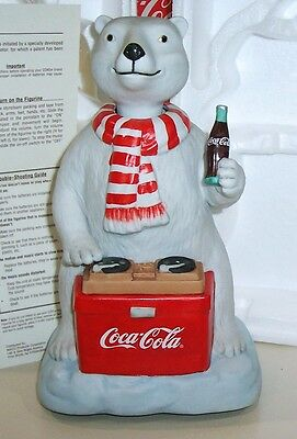 Coca Cola Melody In Motion Action Musical Polar Bear Dj Figurine Limited Edition