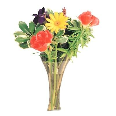 Window Vase Trumpet Style holds bouquet of flowers, suctions to windows 34130