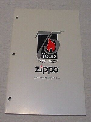 2007 75 Years Zippo Collection Catalog New Never Used