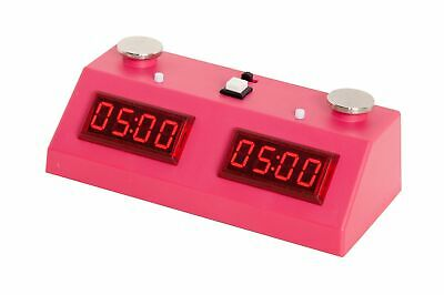 ZMart Fun II Digital Chess Clock with Colored Case - PINK/PINK