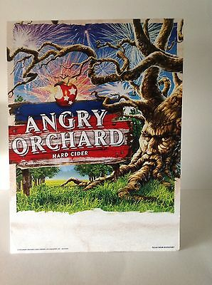 Angry Orchard Hard Cider Beer Cardboard Beer Sign Brand New