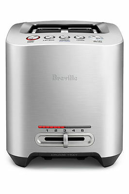 NEW Breville BTA825 The Smart Toast 2 Slice Toaster: Brushed Stainless Steel
