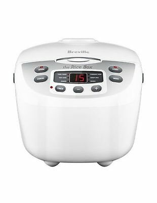 NEW Breville BRC460 Rice Box Cooker: White
