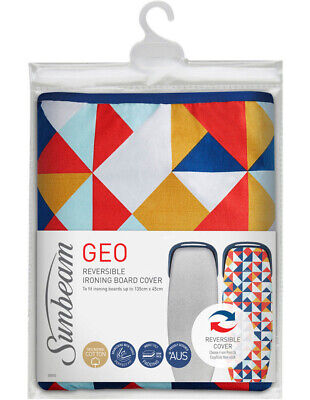 SB0840 Geo Reversible Ironing Board Cover for Ironing Boards up to 135cm by 45cm