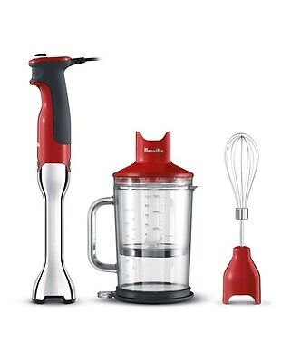 NEW Breville BSB510CRN The Control Grip Hand Blender: Cranberry Red