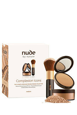 NEW Nude By Nature Complexion Icons Light/Light Medium/Medium by Myer
