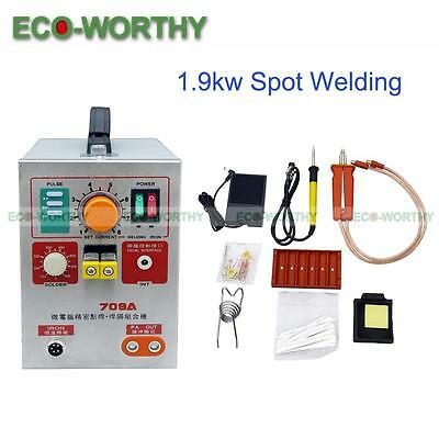 2 in 1 1.9KW 60A Spot Welder W/ Soldering Iron Station DIY Battery Welding