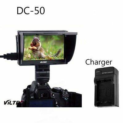 Viltrox 5'' DC-50 Clip-on Color TFT LCD Monitor HDMI AV +charger