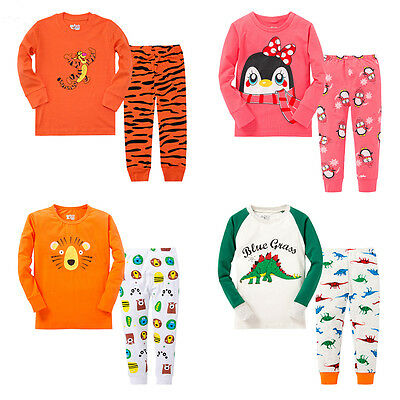 Hot Cartoon Sleepwear Baby Kids Boys Girls Cotton Nightwear Pj's Pyjamas set