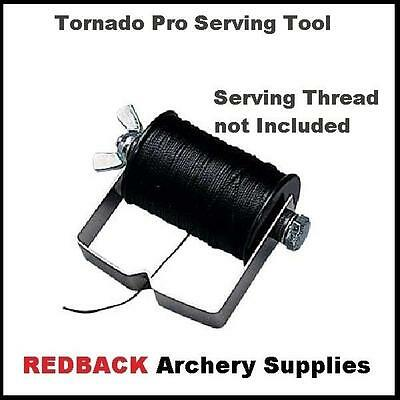 Archery bowhunting string serving tool