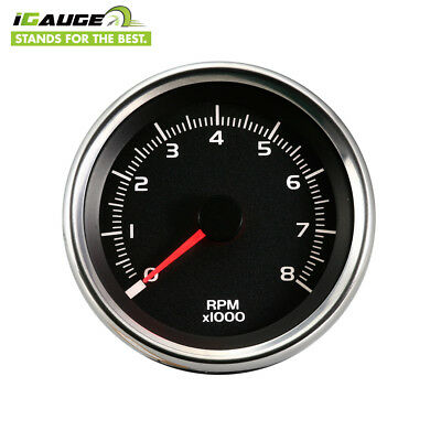 48mm 0-8000 RPM Electrical Motorcycle Tachometer Gauge