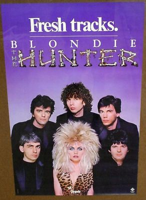 Blondie 1982 poster THE HUNTER mint condition