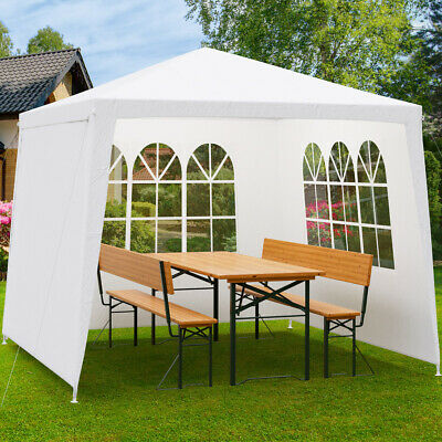 faltpavillon 3x3m pavillon partyzelt garten pavillion pavilion fenster eur 44 99 picclick de. Black Bedroom Furniture Sets. Home Design Ideas