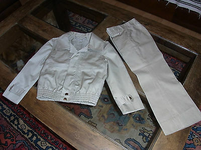 Ensemble blouson pantalon toile 5 ans VINTAGE 70 boy jacket & pant set 5 years