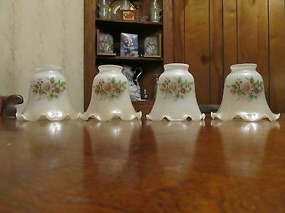 4 Antique Sconce Glass Shades Perfect 2-1/4 Collectibles Sconces Glass Shades
