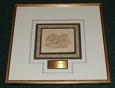 Walt Disney Snow White And The Seven Dwarfs Original 1937 Framed Storyboard