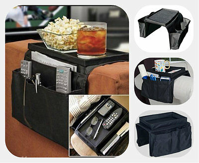 6 Pocket Arm Rest Organiser for Chair Couch Sofa Table Top Holder Organiser Tray