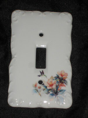 "Ceramic Switch Plate 3 1/4"" X 5"" With Hummingbird Nice Lot 13"