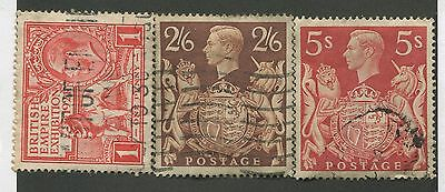 Great Britain #185, 249, 250 Used