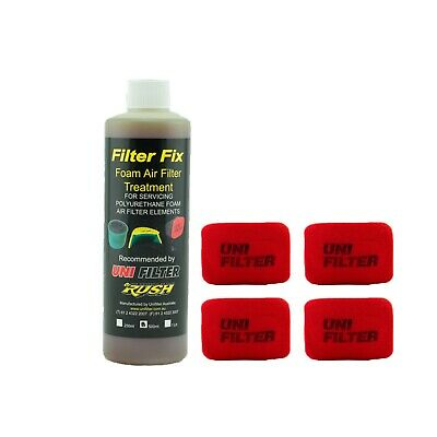 4 X UNIFILTER Safari Snorkel Ram Head (175Wx125H) Cover Pre Cleaner & Filter Oil
