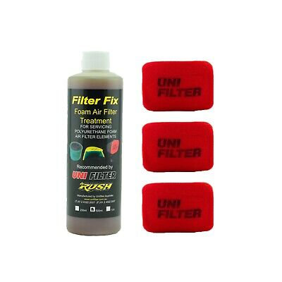 3 X UNIFILTER Safari Snorkel Ram Head (175Wx125H) Cover Pre Cleaner & Filter Oil