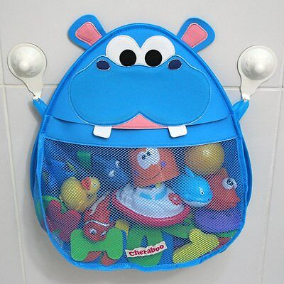 Hurley Hippo Bath Toy Storage Organiser with suction cups that stay on the wall!