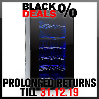 18 Bottle Wine Fridge Cooling 4 Shelves 50 Litre Alcohol Refrigeration Chiller