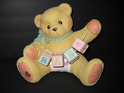 """cherished Teddies Baby Bank"", Bear With Building Blocks"