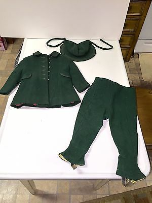 Rare Antique Wool Snow Suit, Hat, Coat, Pants.