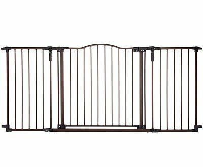 North States Supergate Décor Metal Child or Pet Safety Gate, 72 Wide, Bronze