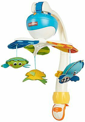 Tiny Love Take Along Mobile, Animal Friends for Crib with Continuous Music, Blue