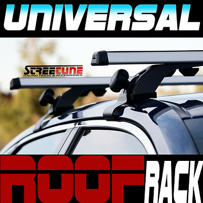 "Silver 50"" Adjustable Window Frame Roof Rack Rail Cross Bars Luggage Carrier S10"