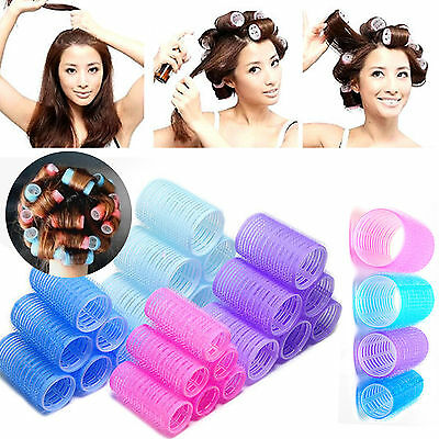 UP New 6pcs Large Hair Salon Rollers Curlers Tools Hairdressing tool Soft DIY