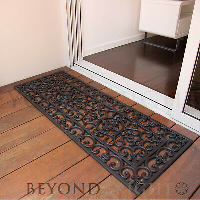 DoorMat 45x120 cm Long BROOKLYN Heavy Duty French Door Mat Rubber Outdoor Rugs