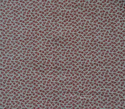"VERY SWEET 19thc RED & WHITE EARLY ANTIQUE VINTAGE COTTON FABRIC - 24.5"" WIDE!"