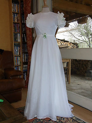 MARIAGE ROBE DE MARIEE 36 FR VINTAGE 60/70 Wedding dress size S 8UK 6US