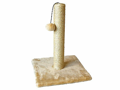 Cat Kitten Scratching Sisal Post Furniture with Hanging Ball Toy and Plush Base