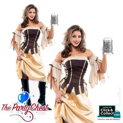 Ladies Tavern Wench Beer Festival Pirate Medieval Fancy Dress Costume XL XXL 084