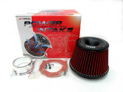 """Apexi Type 3"""" Inlet Power Air Intake Red Racing Cone Air Filter Free Flange"""
