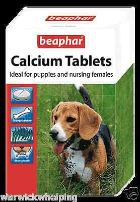 Calcium Tablets Beaphar 180 tabs nursing Dog Puppies whelping nursing