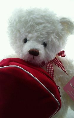 Hallmark 2003 From My Heart Valentines Day Bear Plush ZIPPERED Heart Bag